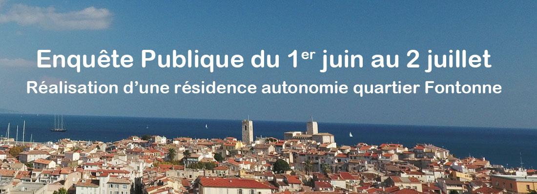 Enquête Publique  - Réalisation d'une résidence autonomie quartier Fontonne