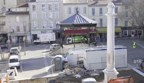 Travaux de la Place Nationale